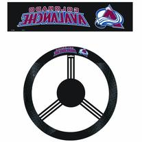 NHL Colorado Avalanche Poly-Suede Steering Wheel Cover