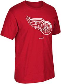 "NHL Detroit Red Wings ""Jersey Crest"" Tee, Large, Red"