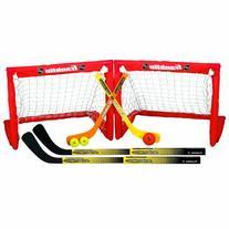Franklin Sports Kids Folding Hockey 2 Goal Set - NHL -