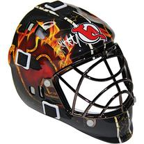 NHL New Jersey Devils Martin Brodeur Signed Flame Mini