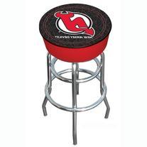 NHL New Jersey Devils Padded Swivel Bar Stool