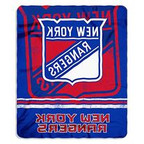 "NHL New York Rangers ""Cracked Ice"" Fleece Blanket Throw"