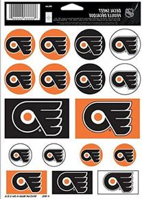 "NHL Philadelphia Flyers Vinyl Sticker Sheet, 5"" x 7"