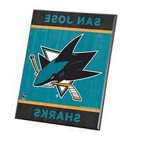"""NHL San Jose Sharks Wood Easel Sign, 8 x 10"""", Team Color"""