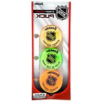 Franklin Sports NHL Street Hockey Puck Combo