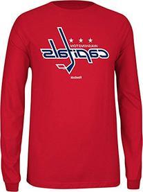 NHL Washington Capitals Men's Jersey Crest Long Sleeve Tee,