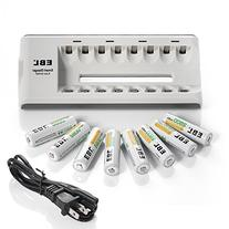 EBL 2800mAh AA Rechargeable Batteries Ni-MH  with 8 Bay AA