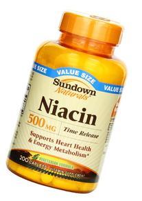 Sundown Naturals Niacin 500 mg, 200 Time Release Caplets