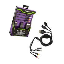 KMD 6 Feet Nickel Plated S- Video RCA AV Cable for GameCube/