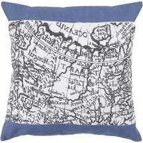 """22"""" Night Sky and Black Olive Map Of The World Decorative"""