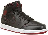 Nike Men's Air Jordan 1 Mid Black/Black/White/Gym Red