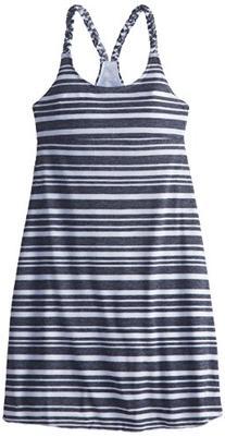 Soybu Girls Nikki Dress, White Stripes, Large