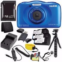 Nikon COOLPIX S33 Digital Camera   + EN-EL19 Battery +