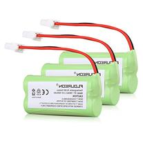 Floureon 3-Pack NiMH Rechargeable Cordless Phone Battery for