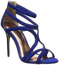 Ted Baker Women's Ninof Gladiator Sandal, Blue Suede, 6 M US