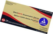 Dynarex 2523 Nitrile Exam Gloves, Large, Black