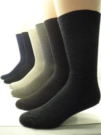Non-elastic top Merino Wool Dress Socks  , Taupe