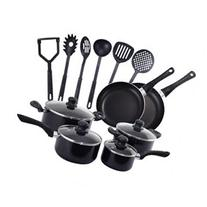 Costway 16 Piece Non Stick Cooking Kitchen Cookware Set Pots
