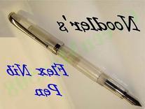 Noodlers FLEX NIB Fountain Pen, Piston Fill, Clear Demo