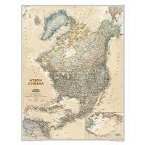 North America Executive Wall Map Material: Paper