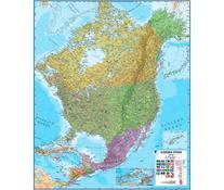 North America Laminated Wall Map