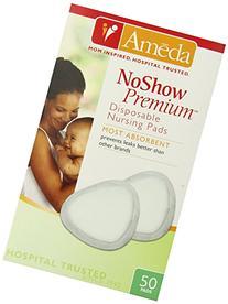 Ameda Noshow Premium Disposable Nursing Pads, 50-Count