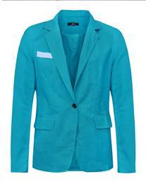 uxcell® Men Notched Lapel One Button Closure Fashion Linen