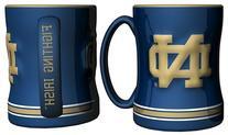 Notre Dame Fighting Irish Coffee Mug - 15oz Sculpted
