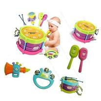 HOT New! 5pcs Novelty Kids Roll Drum Musical Instruments