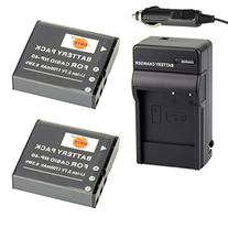 DSTE® 2x NP-40 Battery + DC73 Travel and Car Charger