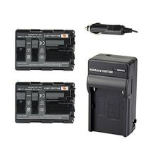DSTE 2x NP-FM500H Battery + DC01 Travel and Car Charger