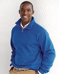 Jerzees 995 Adult NuBlend 1 By 4-Zip Cadet Collar Sweatshirt