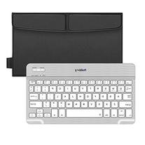 Nulaxy KM12 Bluetooth Keyboard Business Portable Rechargeable Compatible with Apple iPad iPhone Samsung Tablets Phones W Keyboard Cover - Black