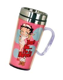 bb642b949152c5 Betty Boop Nurse Insulated Travel Mug