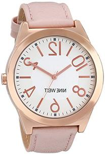 Nine West Women's NW/1660SVPK Rose Gold-Tone Case Watch with
