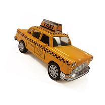 NYC Taxi in Yellow Cab with Pullback Action, Die Cast New