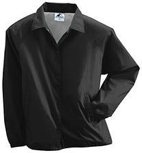 Augusta Sportswear MEN'S NYLON COACH'S JACKET/LINED M Black
