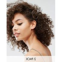 Nylon 2 Pack Geo Hair Slides