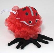 Kingsley Nylon Mesh Scrubber with Terry Lady Bug Sponge