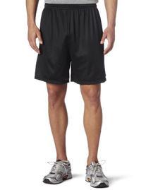 Soffe Men's Nylon Mini-Mesh Fitness Short Black  Large