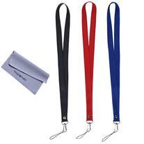 "Wisdompro 3pcs 19"" Premium Nylon Neck Strap Lanyard with J-"