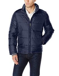 Tommy Hilfiger Men's Big-Tall Nylon Puffer Jacket, Blue, 3X/