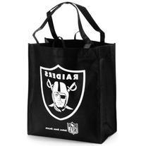 Oakland Raiders Black Reusable Tote Bag