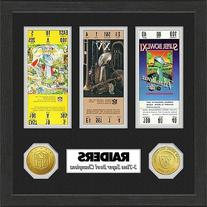 Oakland Raiders Super Bowl Championship Ticket Collection -