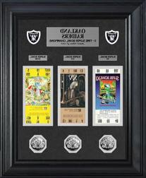 NFL Oakland Raiders Super Bowl Ticket and Game Coin