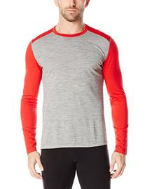 Icebreaker Men's Oasis Long Sleeve Crewe, Metro Heather,