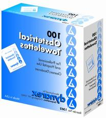 Dynarex Obstetrical Towelette, 2 Boxes of 100