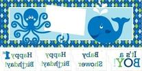 Ocean Preppy Giant Party Banner with Stickers 6 Ct