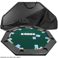 51 X 51 Inch Octagon Padded Poker Tabletop GreenPoker Layout