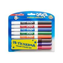 EXPO Low-Odor Dry Erase Markers, Fine Tip, Assorted Colors,